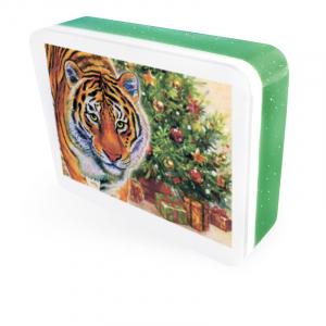 """Мыло-открытка """"Тигр с ёлкой"""""""