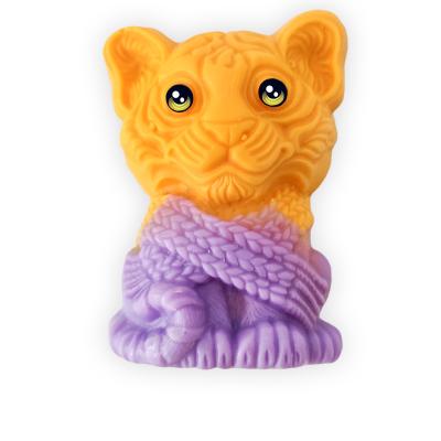 """Мыло  фигурное """"Тигр в шарфе"""""""